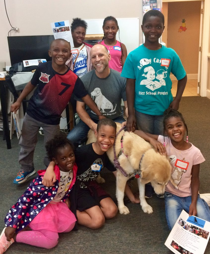 Doing good work with children and dogs