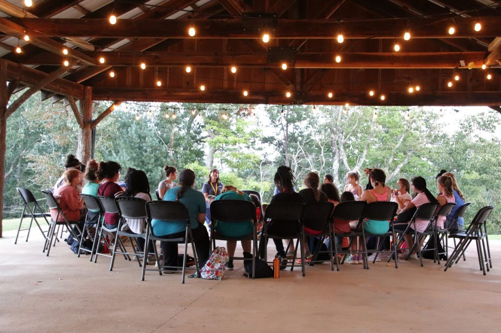 Circle Chat at Camp